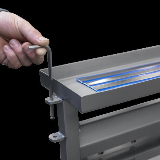 ST700TV set key for storage torlley of skinning machine components - Manual tabletop skinning machine