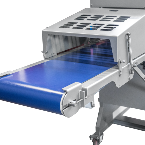 Automatic short poultry skinner - optional long outfeed conveyor