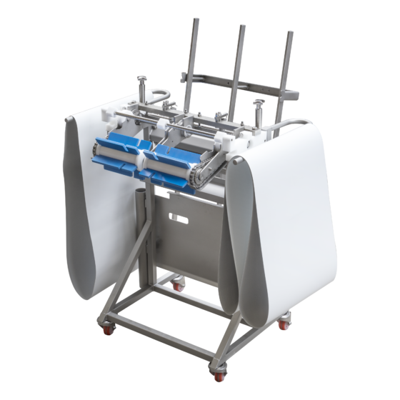 Automatic short poultry skinning machine - rack for machine componants