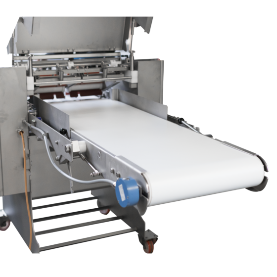 Automatic short poultry skinning machine - optional long outfeed conveyor