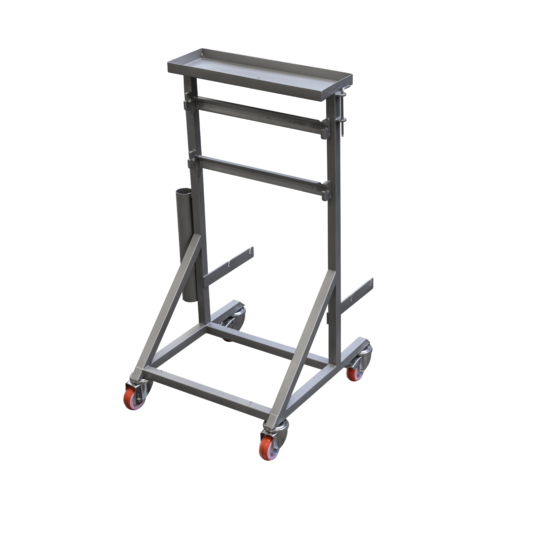 Tabletop fish skinning machine - rack for machine components