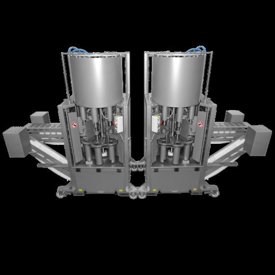 ST850 turkey deboner, back to back layout - Automatic turkey deboning machine