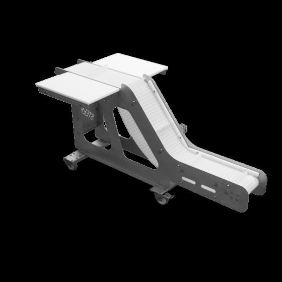 Outfeed belt - trimming belt 2 operators for chicken thigh kneecap deboner STEEN ST832