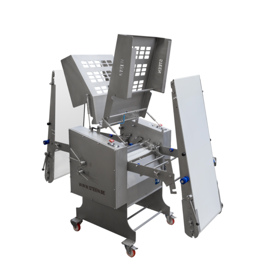 Automatic poultry skinning machine ST700K - open for cleaning