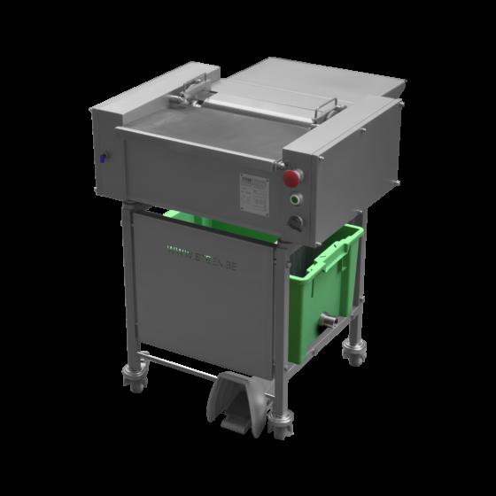 Tabletop fish skinning machine - full option manual fed benchtop fish skinner