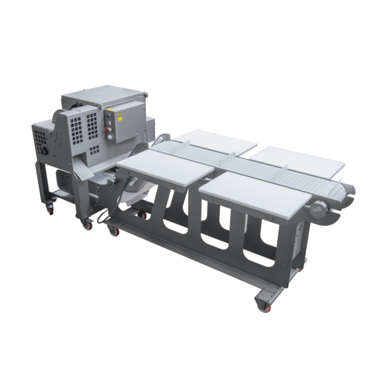 Full option automatic chicken deboner ST828 STEEN for prime wing (drumettes) thigh and drum.
